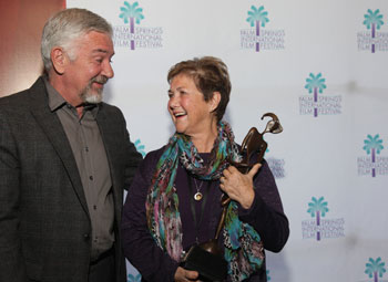 Director Judy Chaikin with the Audience Favorite Award for Best Documentary at the 2012 Palm Springs International Film Festival.