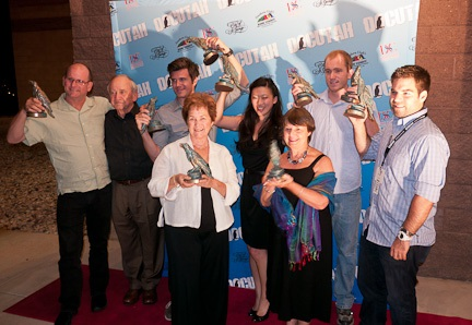 Director Judy Chaikin with other award winners at the 2012 DOCUTAH festival.