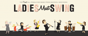 ladies must swing logo PNG